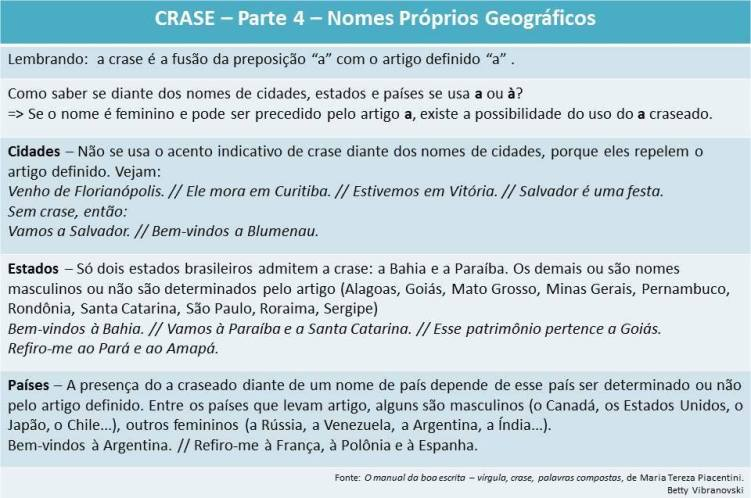 Crase 4 - Nomes prop Geo
