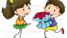 Levei as flores de que ela gosta