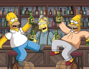 Sou em quem paga-Simpsons-bar
