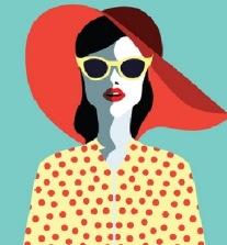 modismo-mulher-chapeu-oculos
